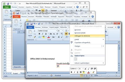 tutorial microsoft excel 2010 in romana download office 2010 language pack office in limba romana