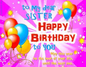 Happy birthday sister greeting image