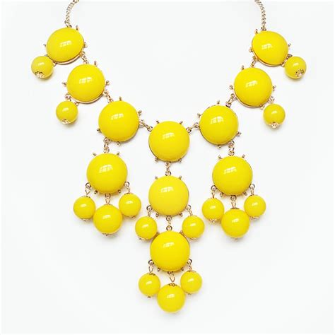 Yellow Neckles yellow necklace gold chain bib necklace with