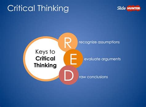 Free Pearson S Red Critical Thinking Powerpoint Diagram Free Powerpoint Templates Free Design Thinking Powerpoint Template