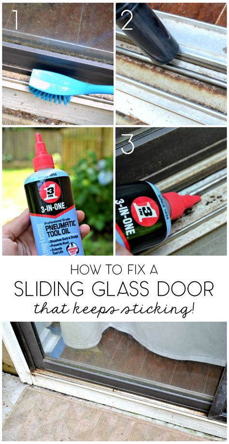 How To Fix Glass Door 5 Minute Fix Unsticking The Sliding Glass Door The Duckling House