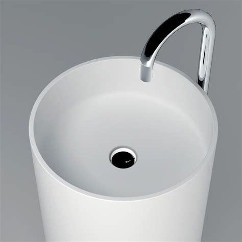 lavabo colonne 40x82 cm mati 232 re composite mineral