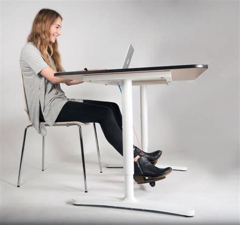 under desk foot exerciser this funny looking gadget forces you to unconsciously