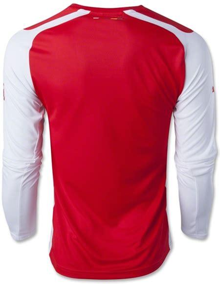 Jersey Go Arsenal Home Pi jersey longsleeve home arsenal 2014 2015 prediksi
