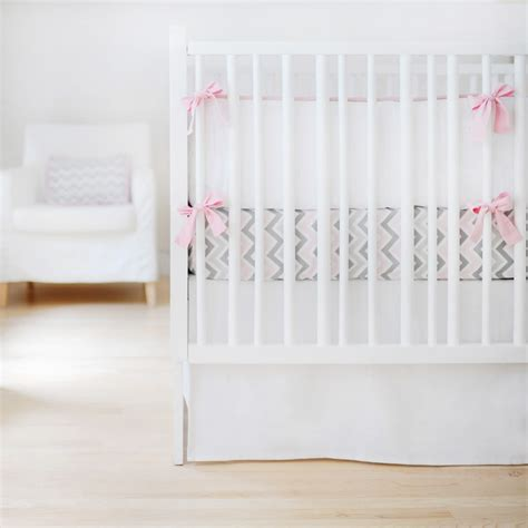 white crib bedding sets sweet and simple crib bedding set in white by new arrivals