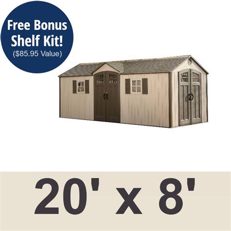 Lifetime 60127 20x8 Lifetime Shed 734383 On Sale With Fast Free Shipping