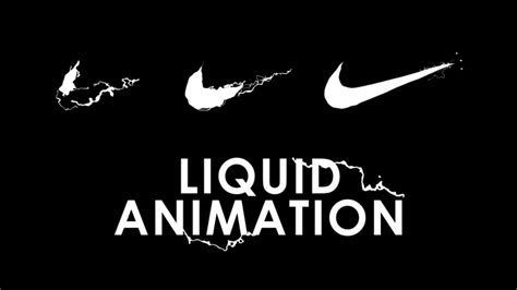 tutorial logo reveal after effects after effects nike logo liquid reveal animation tutorial