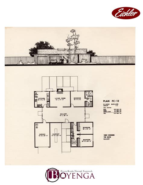 eichler style house plans house design ideas