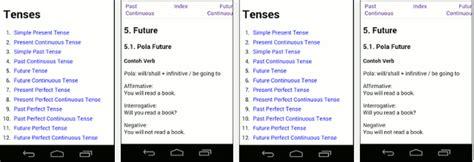 1001 tutorial bahasa inggris app for android belajar bahasa inggris dengan aplikasi tenses rorompok