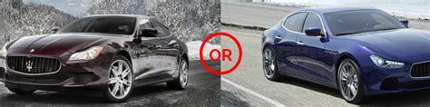 2017 maserati ghibli vs quattroporte ghibli or quattroporte seattle wa maserati of seattle