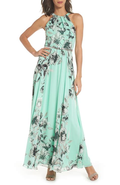 eliza  belted chiffon maxi dress regular petite