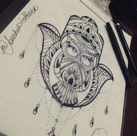 owl hamsa tattoos pinterest