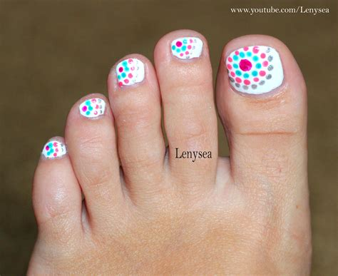 toe nail designs and easy toe nail design for summer