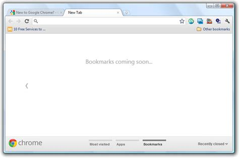 chrome tab new ways to access your bookmarks in google chrome