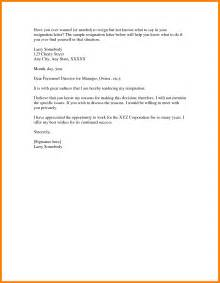Resignation Letter Template Uk by 5 Resignation Letter Uk Science Resume