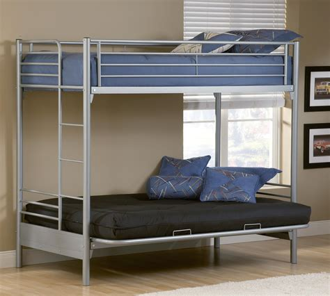 metal bunk bed with futon on bottom metal bunk bed with futon pattern design and image of full
