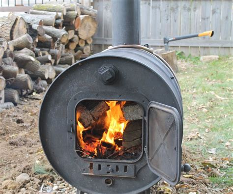 Simple Cabin Plans by Building A Simple Barrel Stove 7 Steps With Pictures