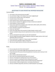 questions to ask for retail managers