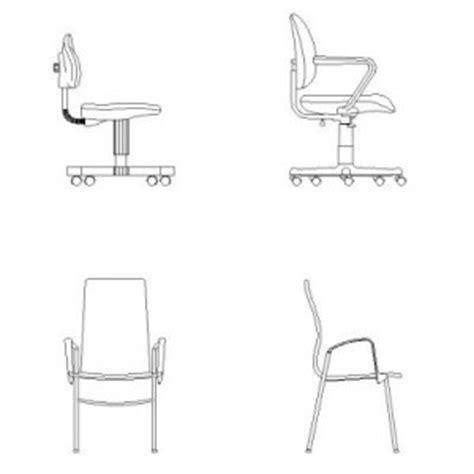 sedia cad sedie per ufficio in prospetto in dwg blocchiautocad it