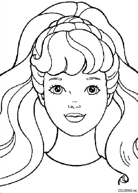 Faces Coloring Pages Coloring Page Barbie Face Coloring Me by Faces Coloring Pages