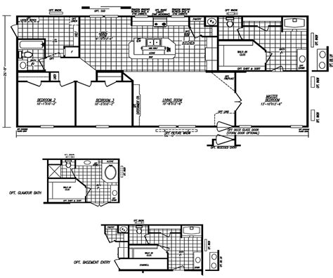 wide modular homes floor plans single wide trailer home floor plans modern modular home