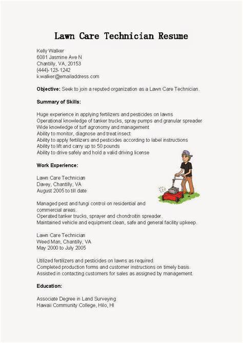 resume lawn care resume