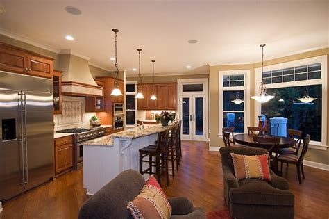 Open Floor Plan Kitchen Ideas Open Kitchen Floor Plans Found In Southern California
