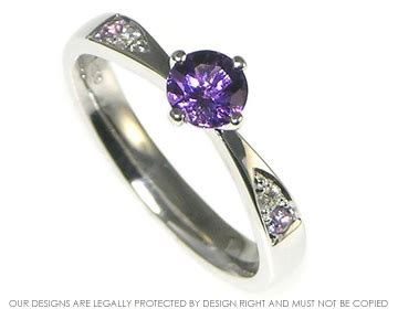 white gold pale lilac sapphire and engagement ring