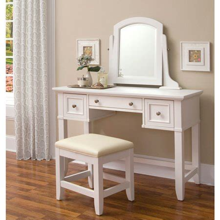 Bench For Vanity by Home Styles Naples Vanity Table Mirror And Bench White