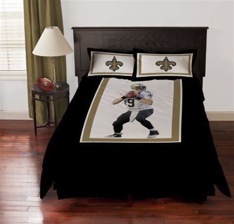 new orleans saints comforter set biggshots new orleans saints drew brees comforter set