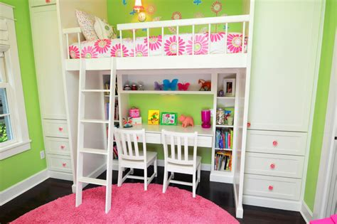 bunk bed with built in desk bunk bed with desk kids traditional with built in closets