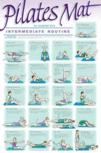Mat Exercises by Pilates Mat Exercise Intermediate Routine Poster Wall