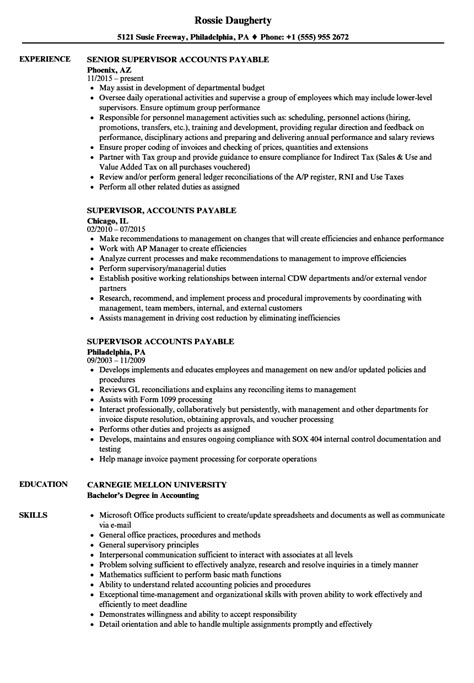 Ap Supervisor Sle Resume by Ap Accountant Sle Resume Format Of Performance Appraisal Form Sle Cover Letter For Sales