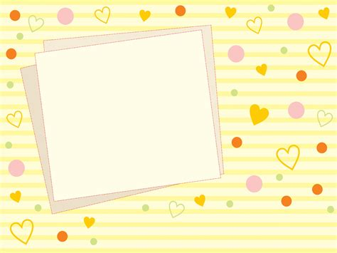 Cute Yellow Photo Backgrounds Border Frames Design Love Yellow Templates Free Ppt Pretty Backgrounds For Powerpoint
