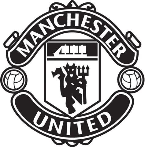Utd Black manchester united logo black and white no1 football info