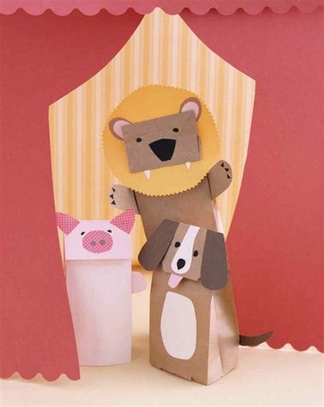 Make A Paper Bag Puppet - 12 rainy day crafts for diy ready