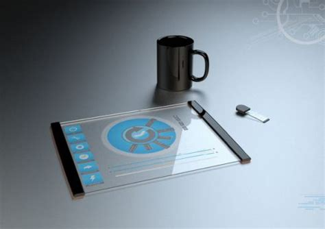 window technology transparent futuristic tablet concept created by thomas
