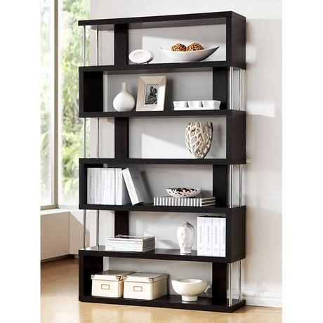 display bookshelves xavier modern zig zag display shelves for the home