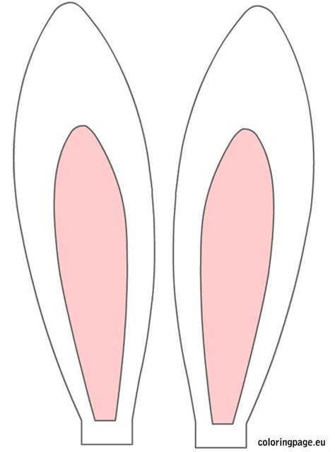 Bunny Ear Template Printable 25 best ideas about rabbit ears on fabric bow