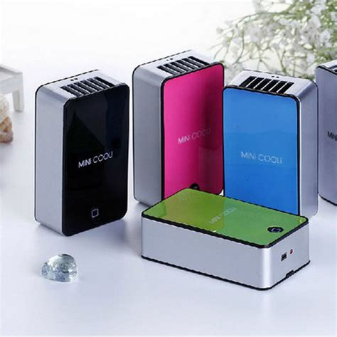 Ac For Table h mini portable handheld table air conditioner cooler cooling bladeless fan usb rechargeable