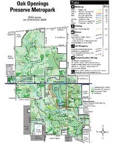 oak openings metropark map toledo oh mappery