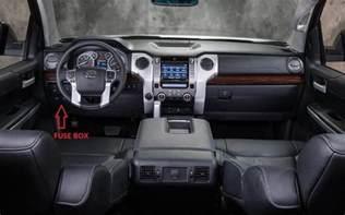 interior fuse box location and information toyota tundra