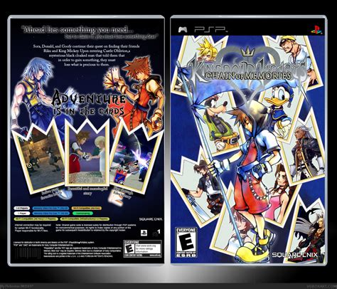 Memory Psp kingdom hearts chain of memory psp box cover by roboross