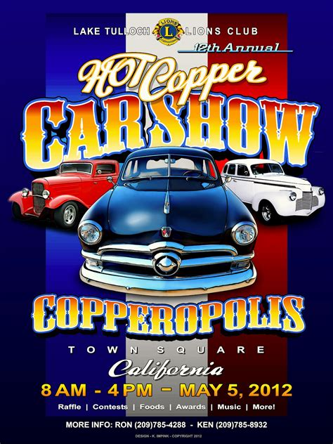 templates for car show flyers car show hot copper copperopolis california may 5