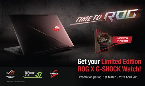 Asus Laptop Malaysia Promotion malaysia asus rog x g shock ga 110 promotion g central g shock