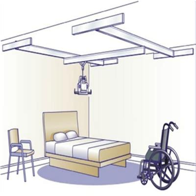 Ceiling Hoyer Lift by Voyager Easytrack 4 Wall Mount System 94003 Ceiling