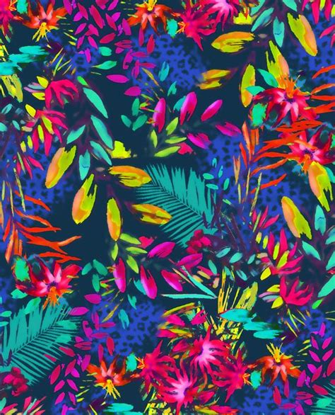 jungle pattern fabric tropical jungle exotic floral leaf all over print by