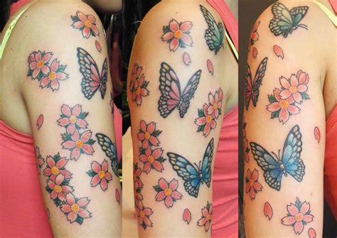 fiori di ciliegio tatoo fiori di ciliegio stilizzati sandi custom