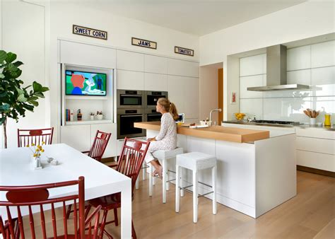 kitchen tv ideas miele oven kitchen contemporary with built in tv in