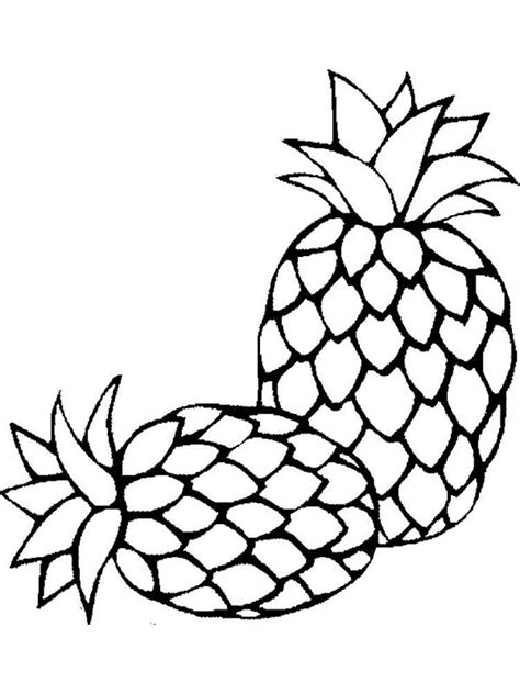 pineapple coloring pages download and print pineapple
